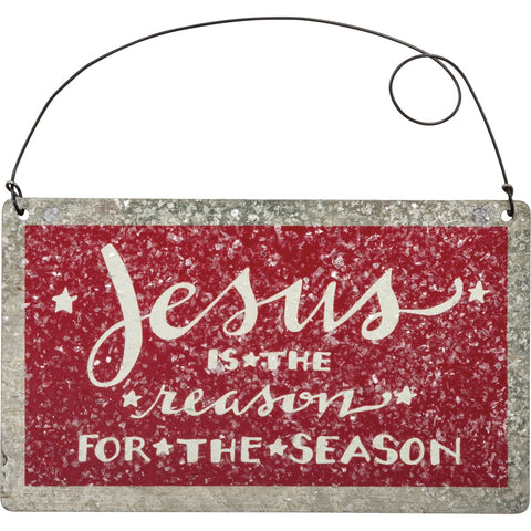 Christmas Ornament - Jesus Reason Primitives by Kathy NEW PK-32417