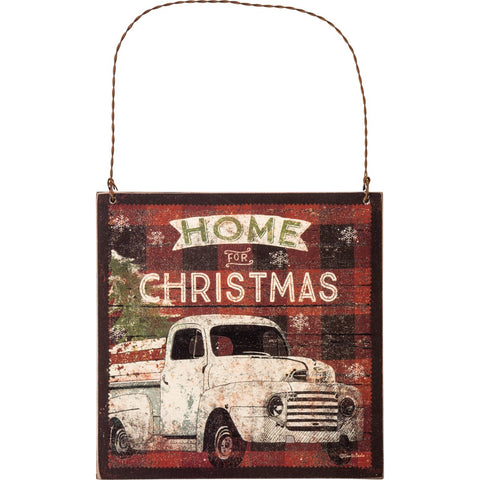 Christmas Ornament - Home For Christmas Primitives by Kathy NEW PK-32848