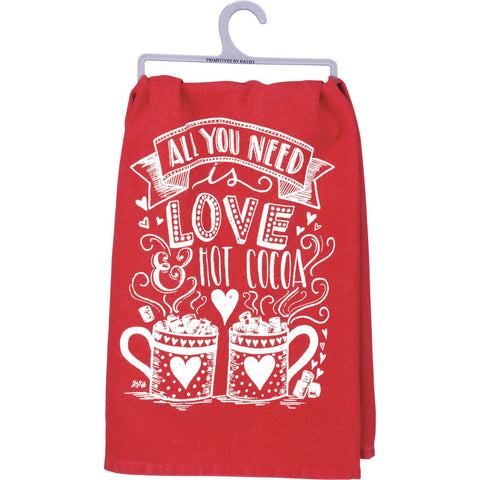 Dish Towel - Love Hot Cocoa Primitives by Kathy NEW PK-33353