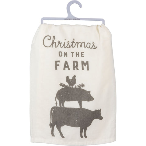 Dish Towel - On The Farm Primitives by Kathy NEW PK-39921