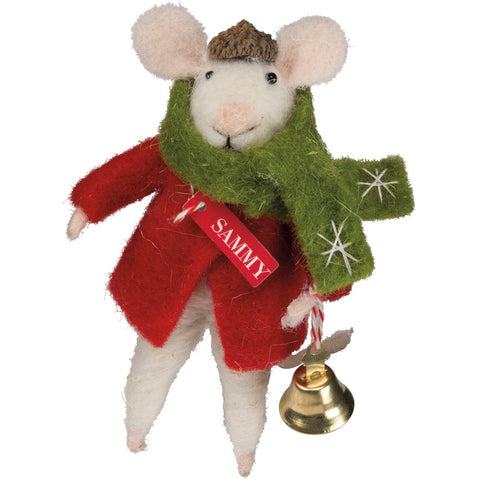Critter - Sammy Mouse ornament Primitives by Kathy NEW PK-26328