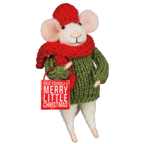 Critter - Merry Little Mouse ornament Primitives by Kathy NEW PK-33592