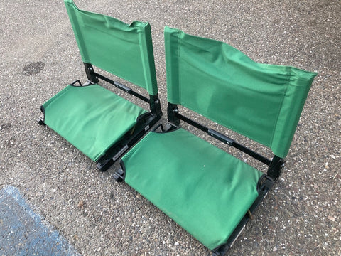Bleacher seats folding green 19851