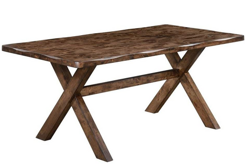 Alston dining table rustic knotty nutmeg NEW CO-106381