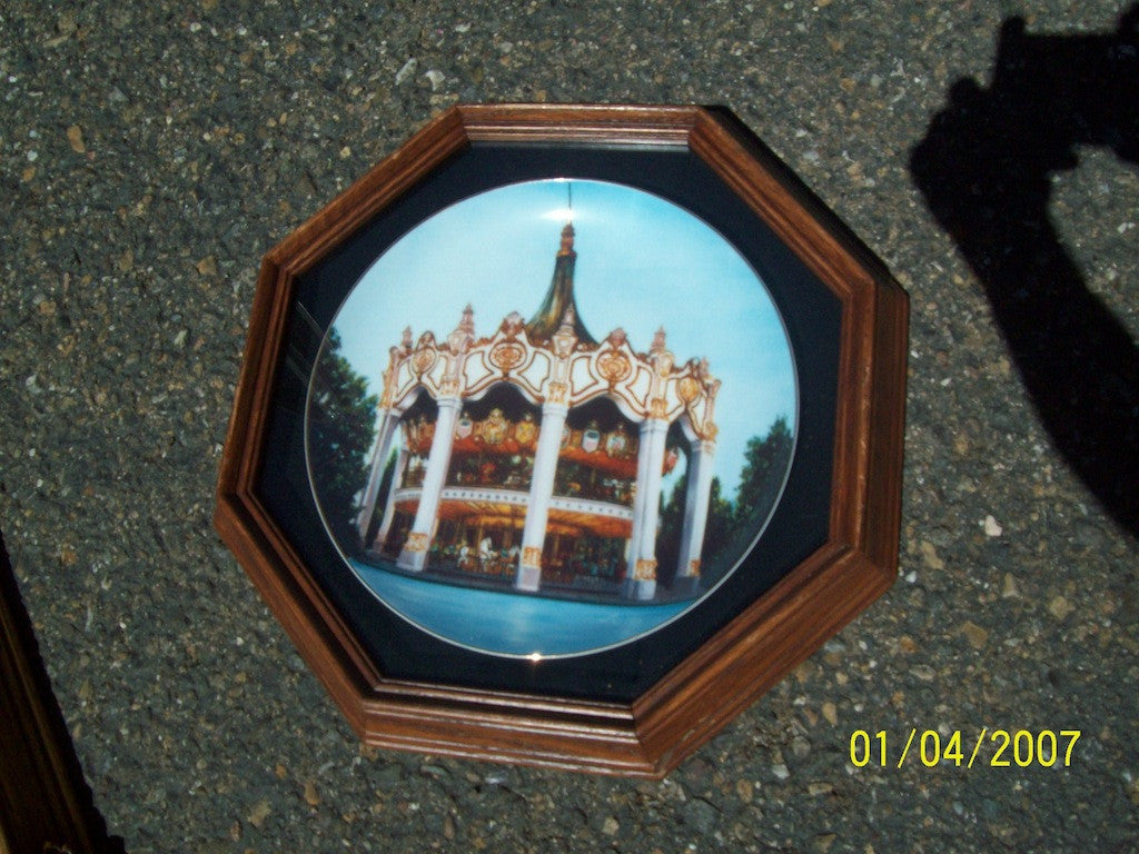 Collectors plate framed 3135