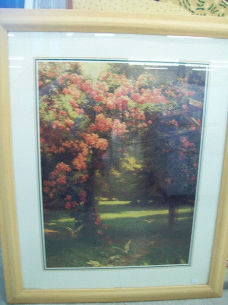 Picture, lithograph, garden 1248