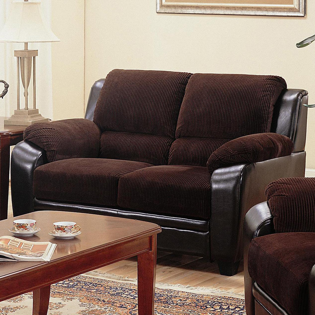 Monika chocolate loveseat CO-502812