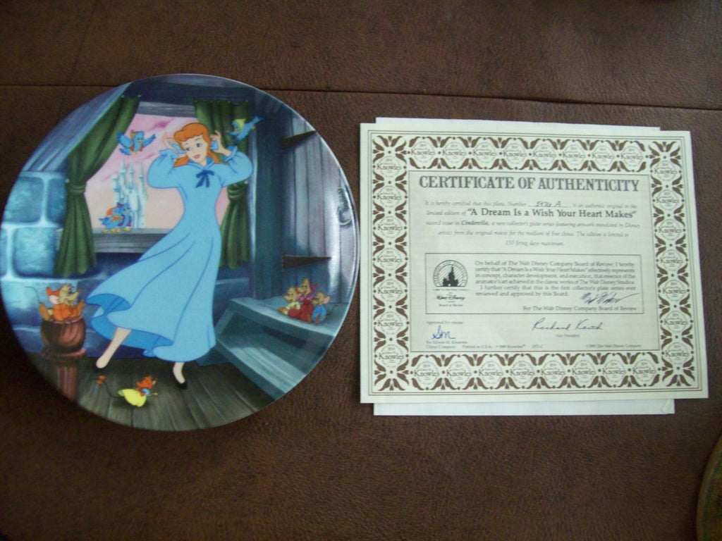 Cinderella A Dream Is a Wish Your Heart Makes collector's plate Hamilton Collection 5335