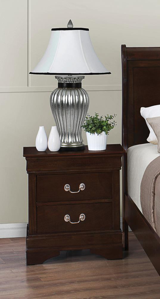 Louis Philippe cappuccino finish nightstand CO-202412