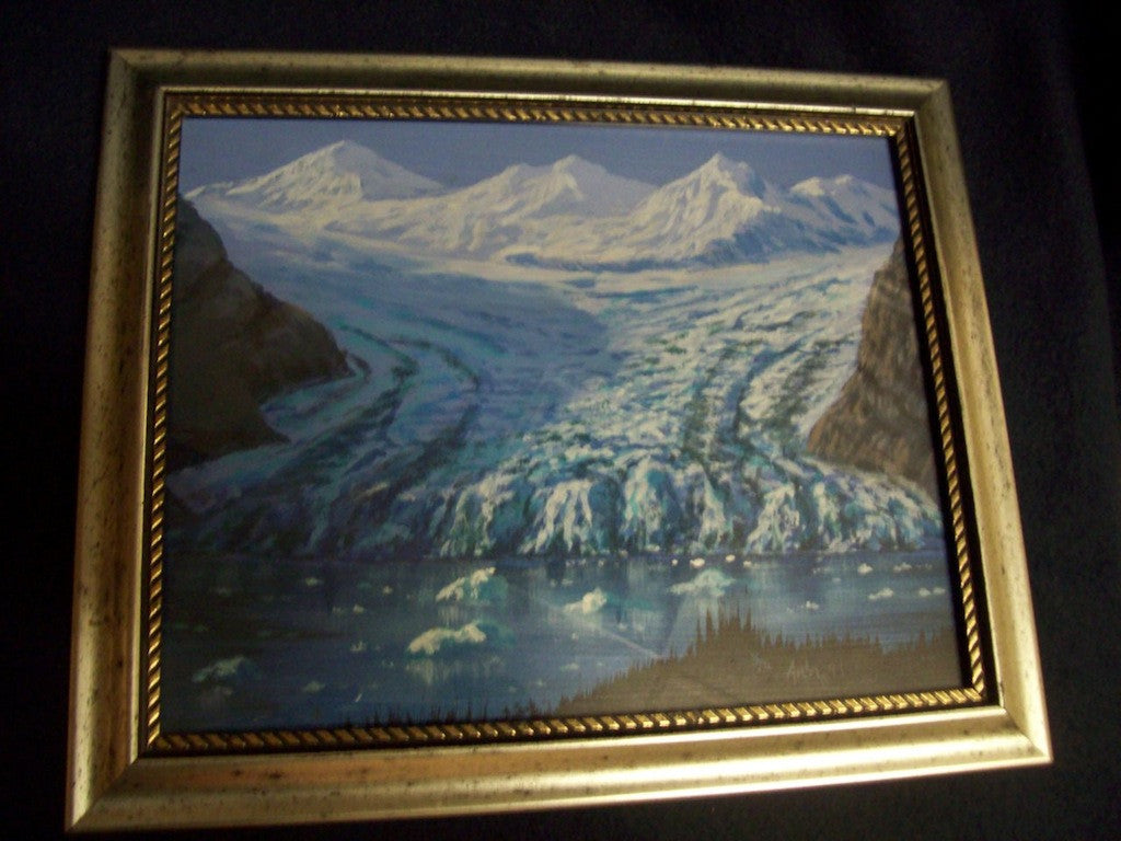 Arla painting on wood glacier 5728
