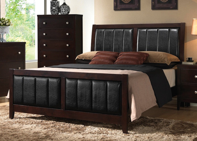 Carlton upholstered/wood queen bed Coaster NEW CO-202091Q