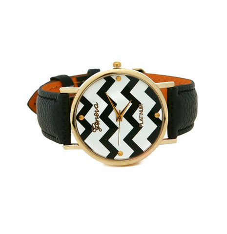 CHEVRON-Print GENEVA WATCH