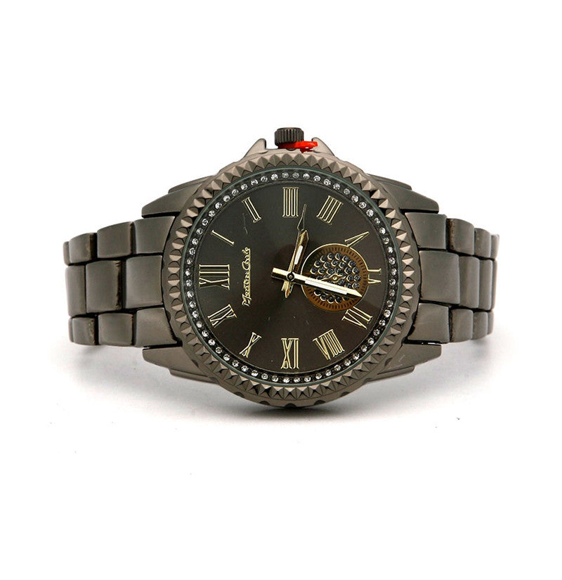 GUN METAL BAND FASHION WATCH