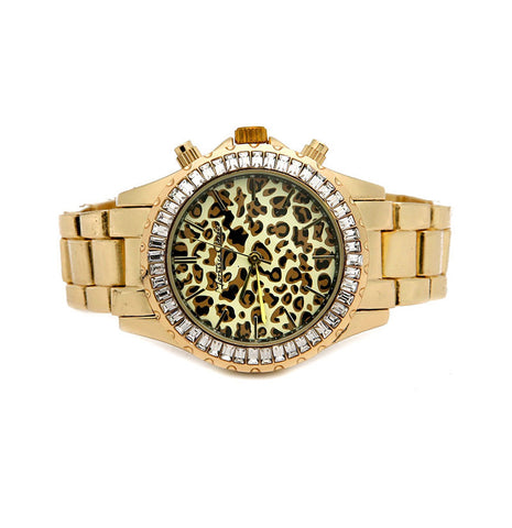GOLD Animal Print BAND WATCH