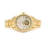 GOLD METAL DIAL BAND WATCH