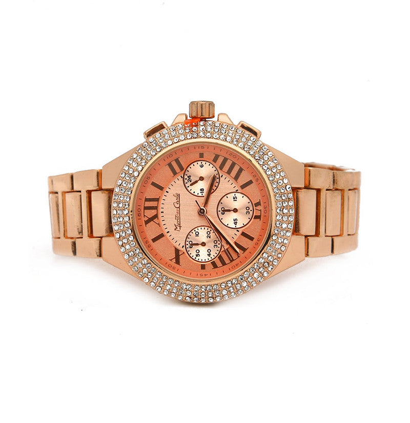 ROSE GOLD METAL BAND WATCH