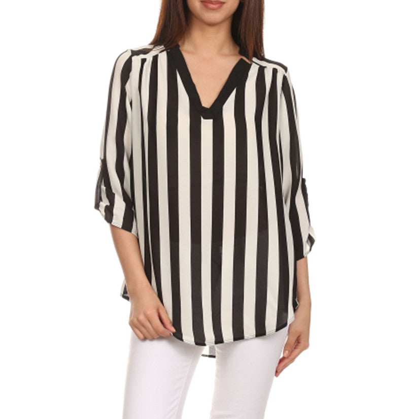 STRIPED BLOUSE TOP