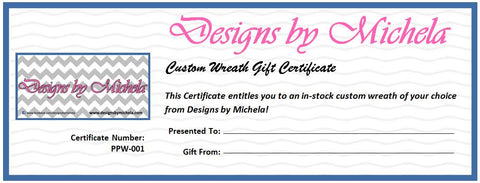 Prepaid Custom Wreath Gift Certificate! - Designs by Michela