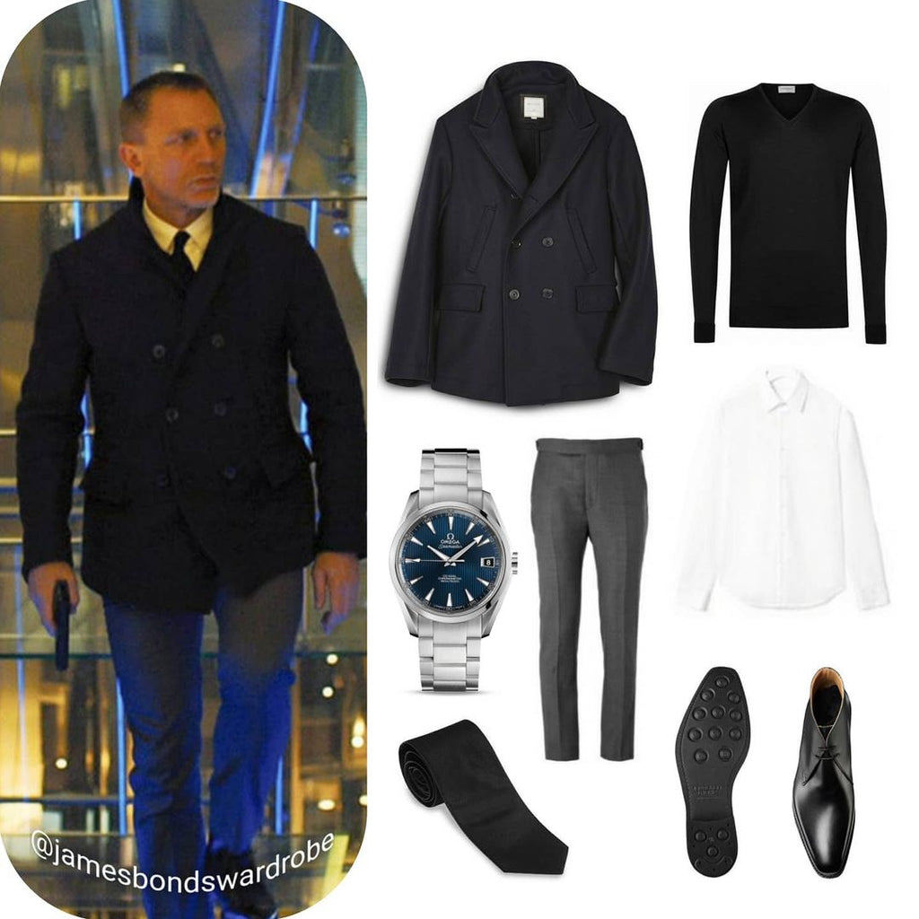 James Bond Outfits Skyfall Peacoat