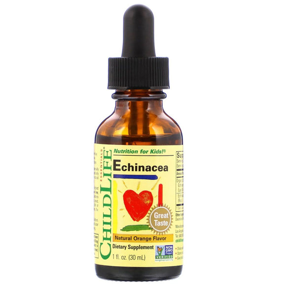 ChildLife Essentials, Echinacea, Natural Orange Flavor, 1 fl oz (30 ml)