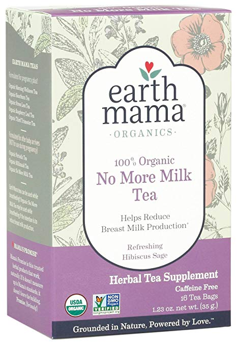 Earth Mama Organic No More Milk Tea Bags for Weaning from Breastmilk