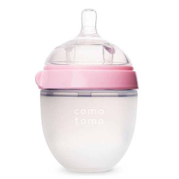 Comotomo Natural Feel Set - Single Pack Pink 5 oz Baby Bottle