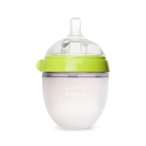 Comotomo Natural Feel Set - Single Pack Green 5 oz Baby Bottle