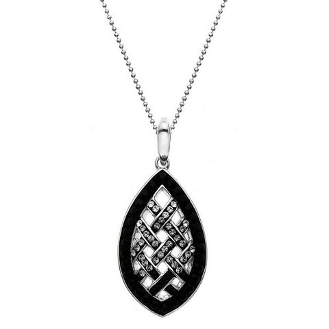 Giorgio Argento Clear To Black Swarovski Weave Crystal Pendant Necklace