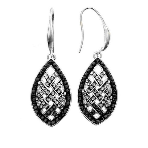 Giorgio Argento Clear To Black Swarovski Weave Crystal Earrings