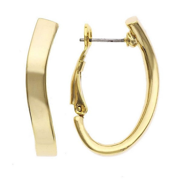 Fine Faux 14KT Gold Plate Comfort Fit Earring