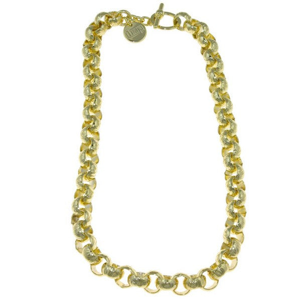 1AR by UnoAerre 18KT Gold Plated Rolo Chain Necklace