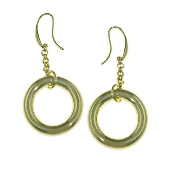 1AR by UnoAerre 18KT GEP circle link earring