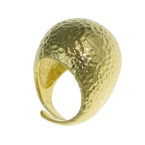 1AR by UnoAerre 18KT GEP Domed Hammered Ring