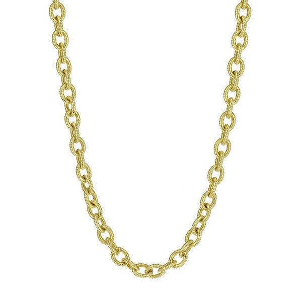 1AR by UnoAerree 18KT GEP corrugated oval link necklace