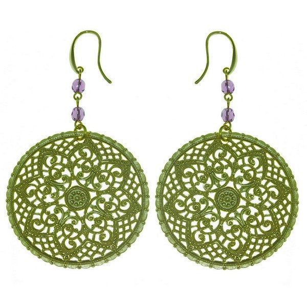 1AR by UnoAerre 18KT GEP Round Byzantine Earrings