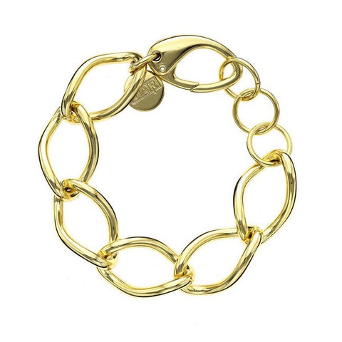 1AR by UnoAerre 18K GEP Yellow Large Twisted link bracelet