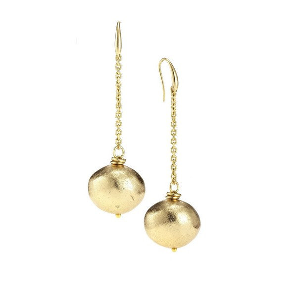 1AR by UnoAerre 18KT GEP Hanging Ball Earrings