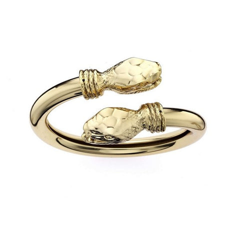 1AR by UnoAerre 18K GEP Snake Head Wrap Bangle