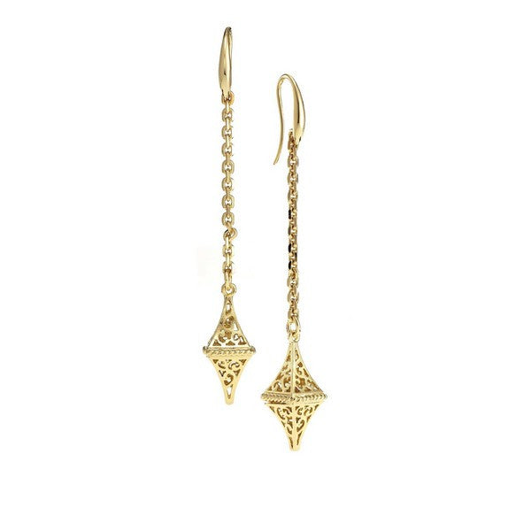 1AR by UnoAerre 18K GEP Hanging Lantern Earrings