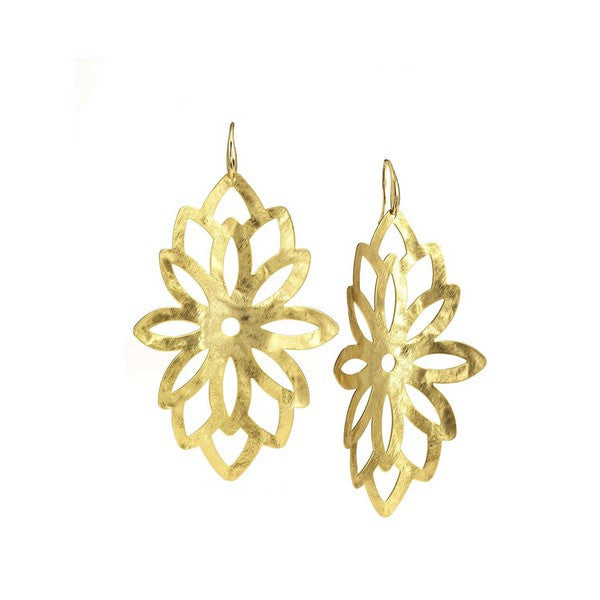 1AR by UnoAerre 18K GEP Large Blossom Hanging Earring