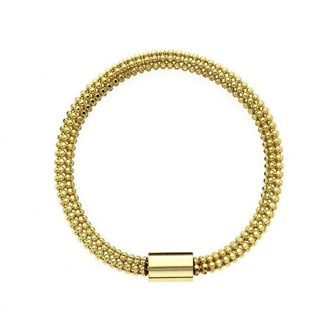 1AR by UnoAerre 18K GEP Flexible Bead Chain Tube Bracelet