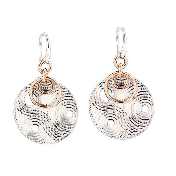1AR by UnoAerre Fine Silver Plated Circle Earrings