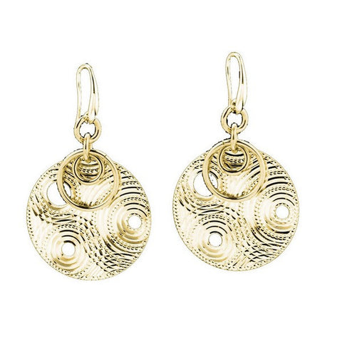 1AR by UnoAerre 18 KT Gold Plated Circle Earrings