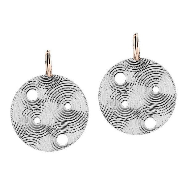 1AR by UnoAerre Fine Silver Plated Large Circle Earrings