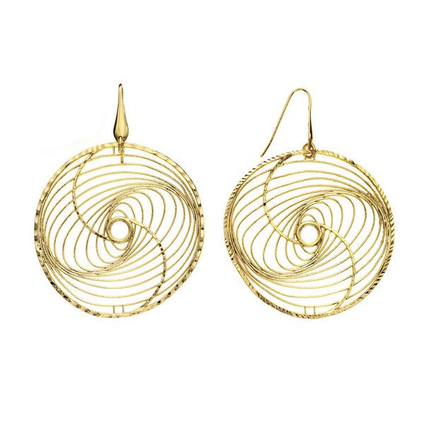 1AR by UnoAerre 18KT gold plated whirlwind pattern earring