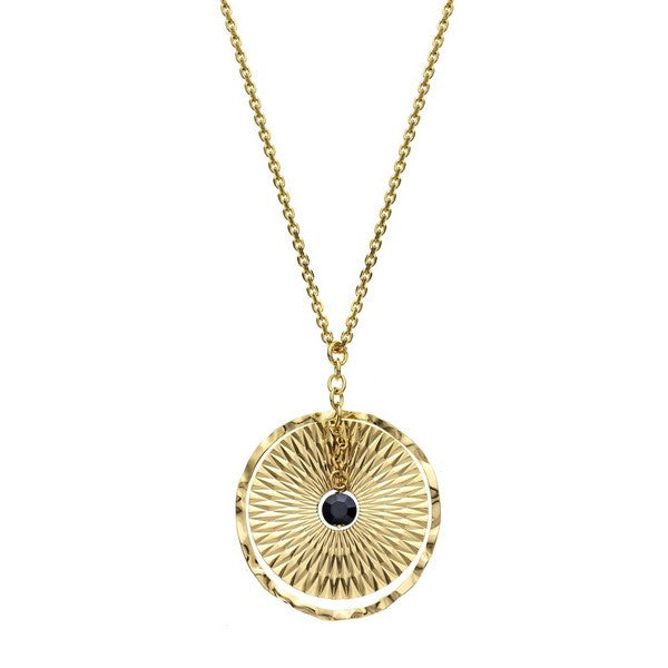 1AR by UnoAerre 18KT gold plated dreamcatcher style chain necklace