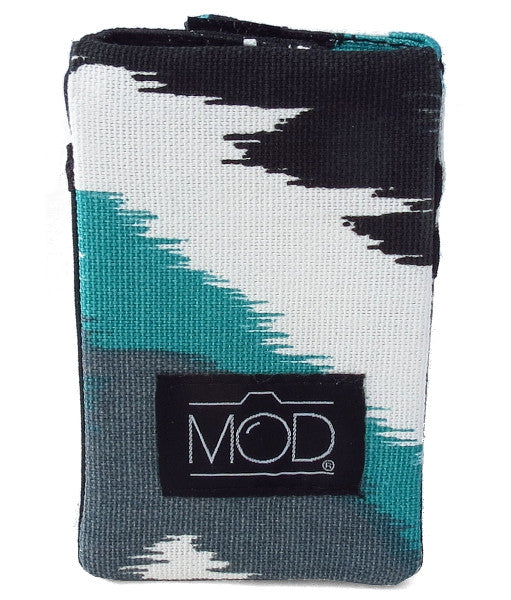 Mod Straps Black & Teal Inkdrop Camera Strap Wrap Storage Pouch