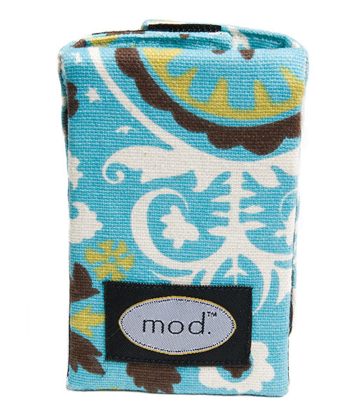 Mod Straps Brown & Teal Circles Camera Strap Wrap Storage Pouch