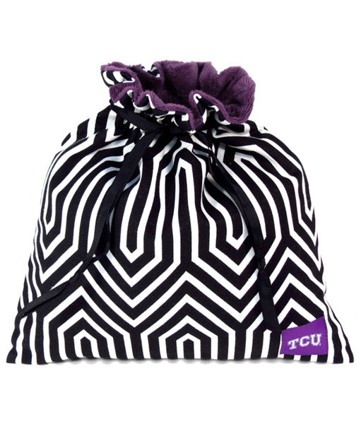 TCU Collegiate Drop in Pouch