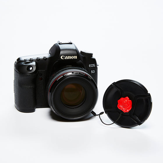 Mod Straps Red Flower Lens Cap Keeper